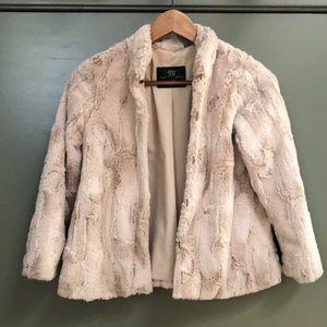 Zara Faux Fur Cropped Jacket